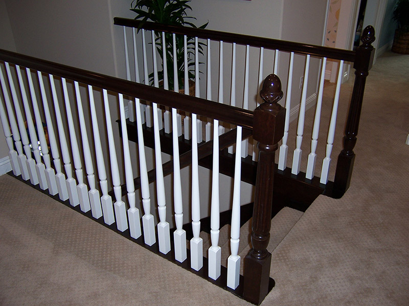 All Stain Grade With White Balusters