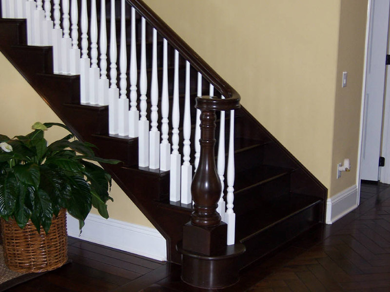 Custom Turned Newel And Treads