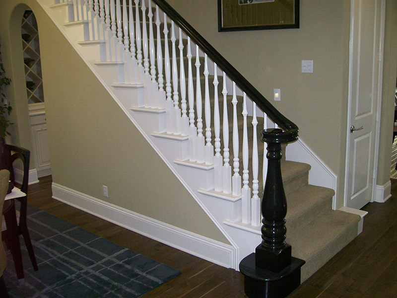 Custom Turned Newel And Turn Out
