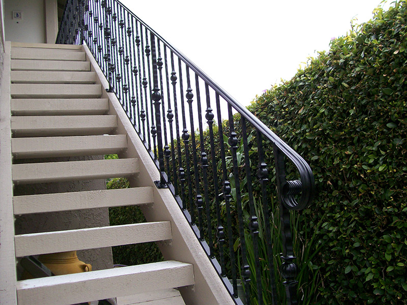 Exterior Stair With Round Knuckles