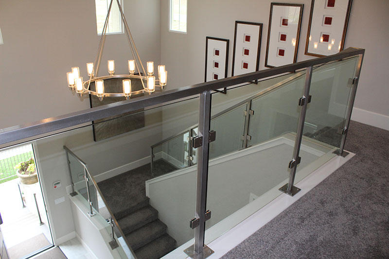 Glass panels with all stainless steel