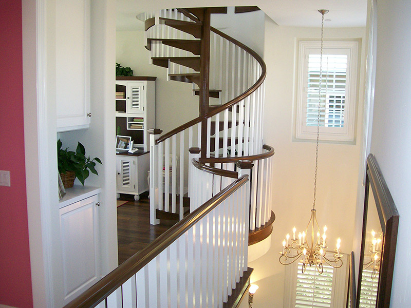 Interior Wood Spiral Stair