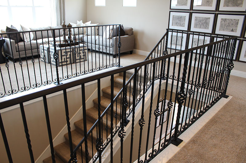 Interior Stair With Basket Iron Bars