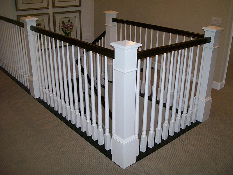 Large Box Newel And Turned Balusters