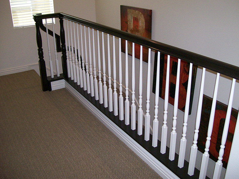 Over The Post System With Turned Balusters
