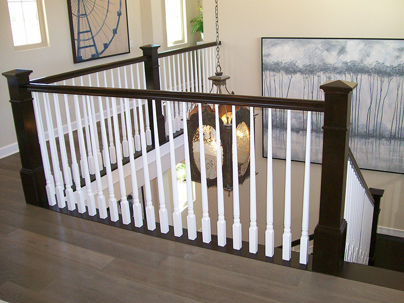 Split System With Turned Balusters