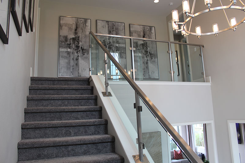 Stainless steel with glass panels