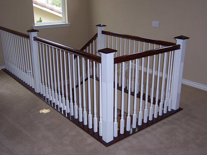Tapered Balusters And Fluted Post
