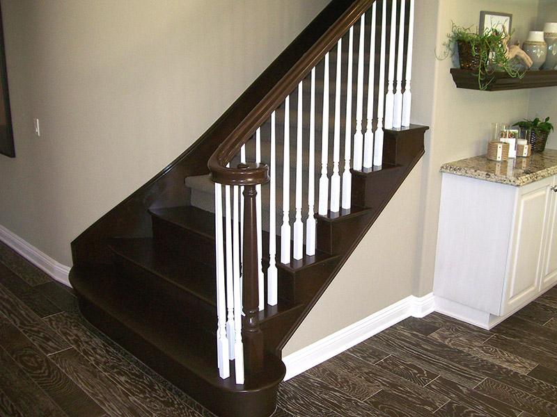 Tapered Balusters And Volute Fitting