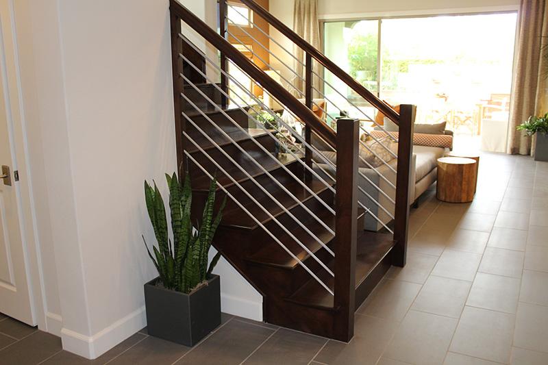 Maple Hand Rails Solid Steel Balustrade