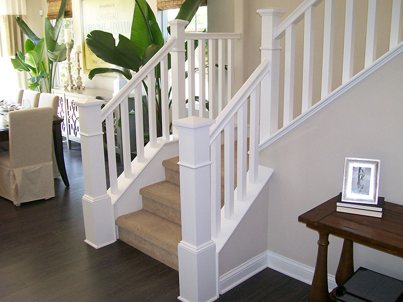 Box Newel With Wrap On Curb Wall