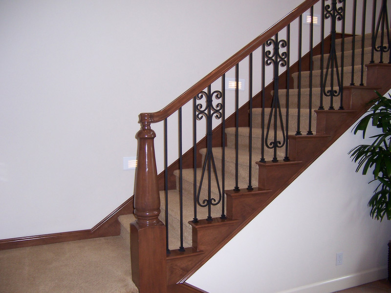 Custom Iron Panels And Newel