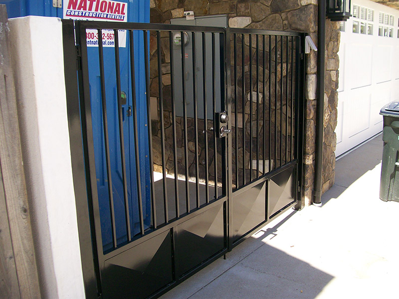 Double Door With Kick Plate