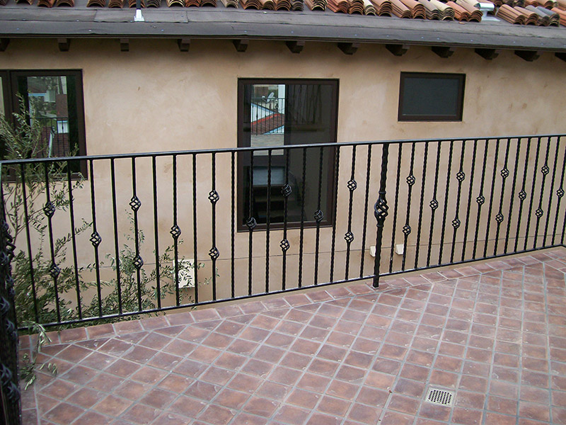 Exterior Deck With Baskets Alternating