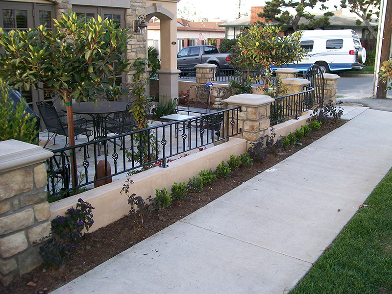 Exterior Patio With Baskets