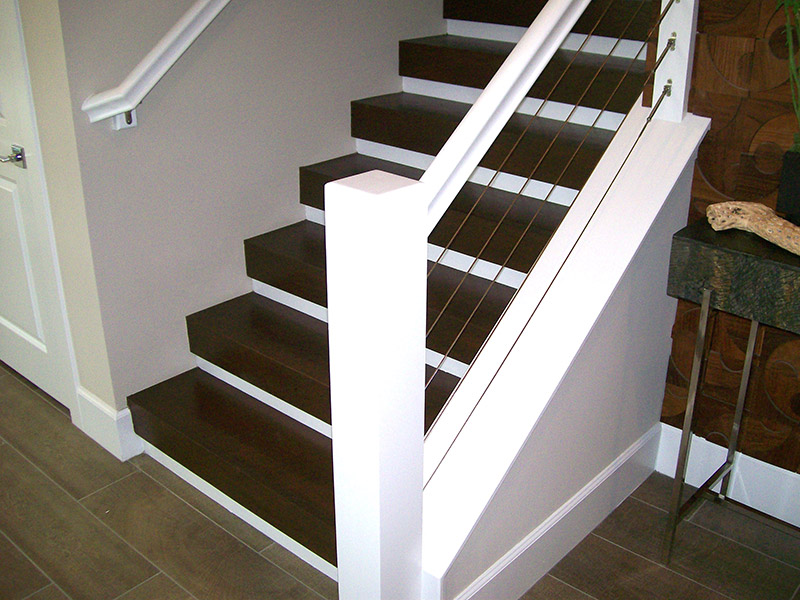 Large Newel And Stainless Cable