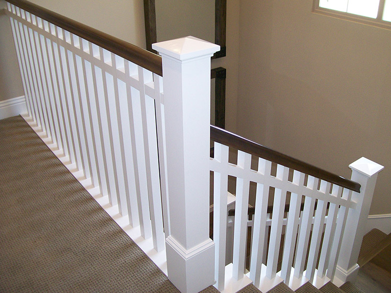 Large Post And Sub Rail
