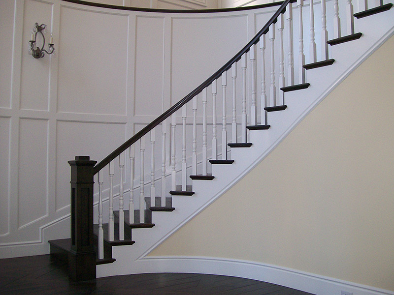 Recessed Post And Turned Balusters