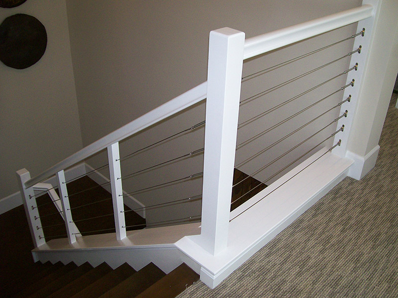 Small Newel And Stainless Cable