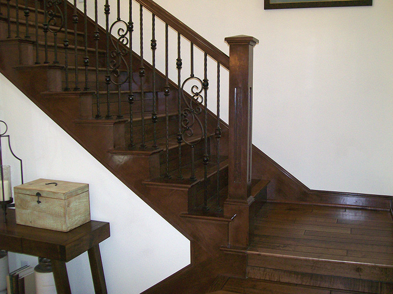 Tuscan Scrolls And Box Newel