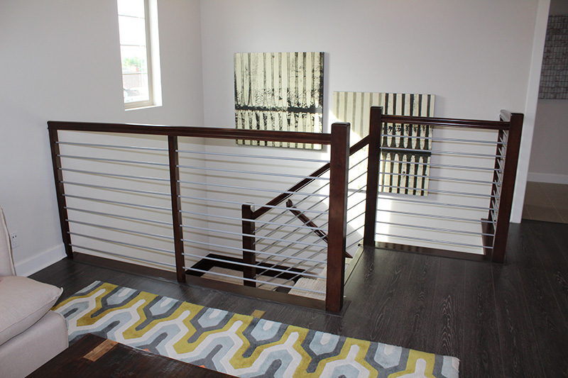 Maple Hand Rails Solid Steel Balustrade
