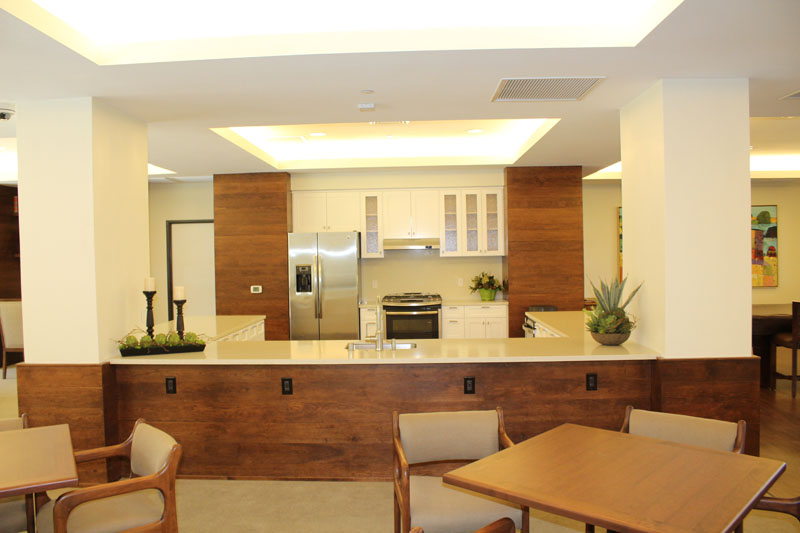 Custom Kitchen with Cherry Wall Treatment